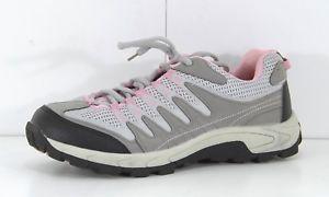 【送料無料】キャンプ用品 ハイキンググレーピンクレディースハイキングシューズトレーナーサイズユーロxhiking grey pink lightweight ladies hiking shoes trainers size uk 7 eur 40