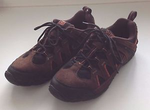 Karrimor Mens Gents Summit Leather Walking Laces Fastened Tourism Footwear