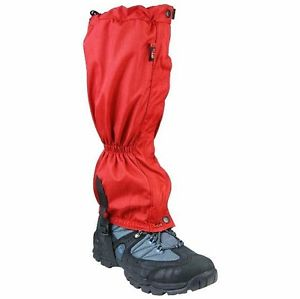 【送料無料】キャンプ用品 マウンテンブーツレディースレッドウォーキングズボンハイキングブーツカバーwaterproof mountain gaiters ladies red walking trouser gator hiking boot cover