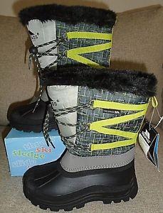 【送料無料】キャンプ用品 フリントトレスパスブーツtrespass finbar boys snow boots in flint uk 1 eu 33 rrp 35
