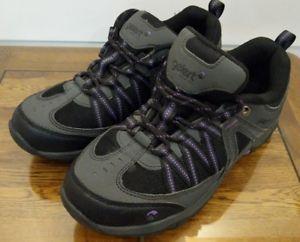 【送料無料】キャンプ用品 ハイキングブーツサイズブラックパープル