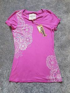 【送料無料】キャンプ用品 シャツサイズブランドweird fish, womens long length printed tshirt, size 12 purple orchid brand
