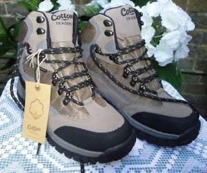 【送料無料】キャンプ用品 トレーダーワイドサイズハイキングウォーキングブーツcotton traders boots walking hiking waterproof bnwt wide comfort size 6