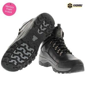 【送料無料】キャンプ用品 メンズウォーキングハイキングブーツトレーナーmens leather waterproof walking hiking ankle memory foam boots trainers shoes sz