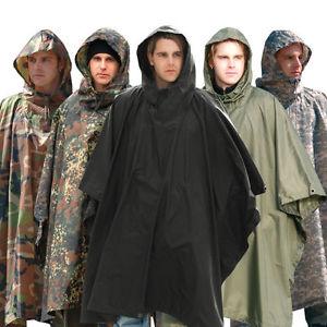 【送料無料】キャンプ用品 テックポンチョフードフェスティバルキャンプmiltec ripstop poncho waterproof hooded army festival military camping
