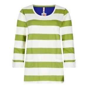 【送料無料】キャンプ用品 ジャイワイドストライプスラブシャツライムweird fish womens ajay wide stripe slub tshirt lime