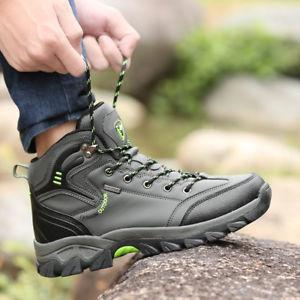 【送料無料】キャンプ用品 メンズレザーハイキングブーツウォーキングシューズサイズmens leather hiking winter snow work ankle boots waterproof walking shoes size