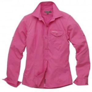 【送料無料】キャンプ用品 レディースキウイシャツホットピンクcraghoppers ladies womens long sleeved polycotton kiwi shirt uk12 hot pink bnip