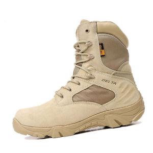 【送料無料】キャンプ用品 イギリスブーツデザートハイキング uk men military tactical boots desert combat army hiking travel bota shoesad