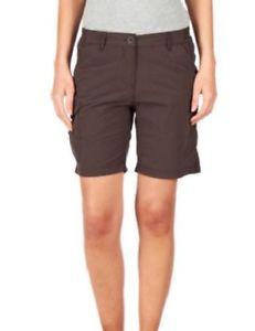 【送料無料】キャンプ用品 レディースココアブラウンハイキングウォーキングパンツcraghoppers womens ladies nosilife cocoa brown hiking walking shorts cwj981 uk8