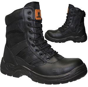 【送料無料】キャンプ用品 スチールトゥーキャップブーツmens tactical lightweight steel toe cap safety work boots military combat shoes