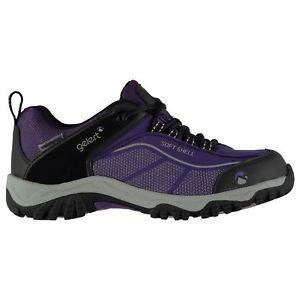 【送料無料】キャンプ用品 ウォーキングシューズレディースシューレースgelert softshell water repellent walking shoes ladies laces fastened ventilated