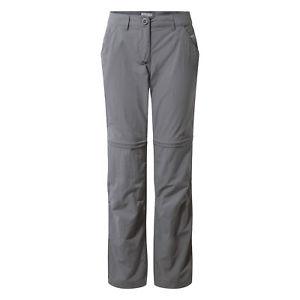 【送料無料】キャンプ用品 ウォーキングパンツサイズプラチナムcraghoppers womens nl convert walking trousers various sizes platinum