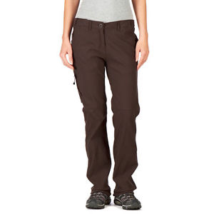 【送料無料】キャンプ用品 ココアブラウンズボンレディースcraghoppers womens cocoa brown nosilife lightweight trousers ladies 18 long bnwt