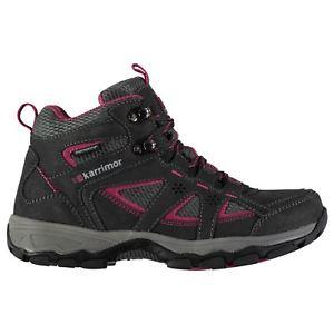 【送料無料】キャンプ用品 マウントウォーキングブーツレディースシューレースkarrimor mount weathertite mid walking boots ladies laces fastened ventilated