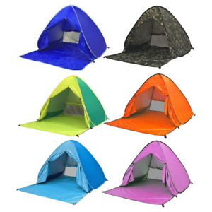 【送料無料】キャンプ用品 テントサンポータブルuvポップ summer beach tent blue antiuv automatic pop up sun protection portable uk