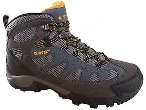 【送料無料】キャンプ用品 メンズウォーキングハイキングレースグレーブーツhitec trailstone waterproof mens walking hiking lace grey boots