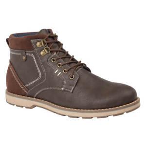 【送料無料】キャンプ用品 メンズブラウンレザーカジュアルファッションミリタリーレースアップアンクルブーツサイズmens brown leather look casual fashion military lace up ankle boots size uk 712