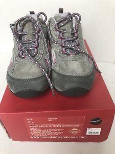 【送料無料】キャンプ用品 レディースグレーmountain summit isogrip womens waterproof shoes grey uk7 rrp 11999