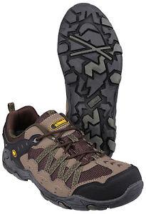 【送料無料】キャンプ用品 メンズハイキングシューズトレッキングトレーナートップコッツウォルドブランドmens hiking shoes trekking trainers low tops genuine leather cotswold branded