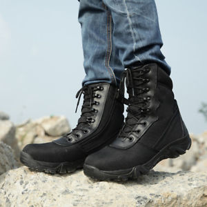 【送料無料】キャンプ用品 メンズブーツカムフラージュレースハイキングシューズmens tactical military combat boots swat python camouflage lace up hiking shoes