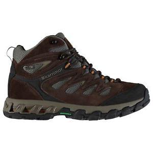 【送料無料】キャンプ用品 マーリンミッドウォーキングブーツメンズパッドkarrimor merlin mid walking boots mens gents laces fastened padded ankle collar