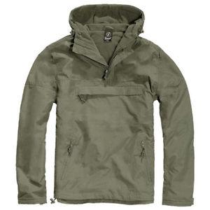 【送料無料】キャンプ用品 ジャケットクラシックウィンドブレーカーフードメンズハイキングハンティングオリーブ