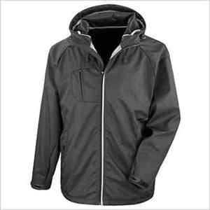【送料無料】キャンプ用品 メンズブラックニューヨークハードシェルフードジップジャケットサイズ