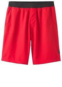 【送料無料】キャンプ用品 ショートパンツメンズショートパンツリボンprana mojo shorts, lightweight mens shorts, red ribbon