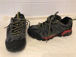 【送料無料】キャンプ用品 メンズウォーキングシューズトレーナーサイズユーロmerrell capra gtx mens walking shoes granite trainers boots size uk 8, eur 42