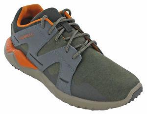 【送料無料】キャンプ用品 ハイキングトレーナーレザーウォーキングメンズトップレースクッションmerrell 1six8 hiking trainers leather walking mens low top lace cushioned shoes