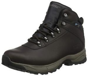 【送料無料】キャンプ用品 メンズレザーウォーキングブーツブラウン mens hitec eurotrek lite waterproof leather walking boots uk 613 brown