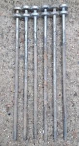 【送料無料】キャンプ用品 テントx 6マーキー500mmx 13mmtent pegs x 6 heavy duty ground stakes steel marquee shelter 500mm x 13mm army