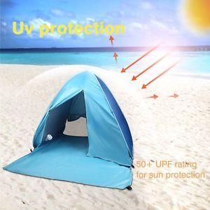 【送料無料】キャンプ用品 テントサンポータブルuvポップfashion adult beach tent blue antiuv automatic pop up sun protection portable