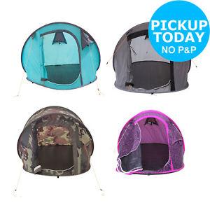 【送料無料】キャンプ用品 2テント  カモフラージュグレーtrespass 2 man festival pop up tent bluecamouflagegreypurple