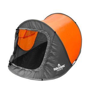 【送料無料】キャンプ用品 マイルストーンキャンプポップアップドームテントmilestone camping two four 18870person pop up and dome tent sewnin groundsheet