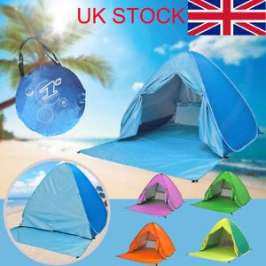 【送料無料】キャンプ用品 ビーチテントアンチポップアップメニューポータブルセットアップuk summer auto beach tent antiuv automatic pop up sun protection portable bs