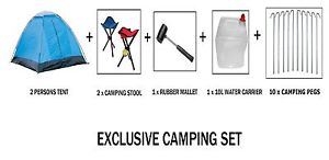 【送料無料】キャンプ用品  exclusive camping set tent water carrier pegsstool mallet pegs summer exclusive camping set tent water carrier pegs stool