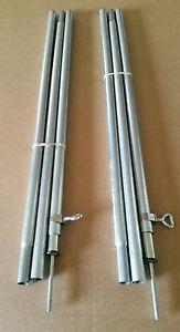 【送料無料】キャンプ用品 フィートフィートイングランドウェールズ2 adjustable upright poles 6ft to 7ft free postage to england and wales