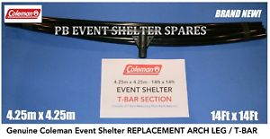【送料無料】キャンプ用品 コールマンイベント425 pro m14ftt bar sectioncoleman event shelter pro 425m 14ft spare pole replacement t bar section