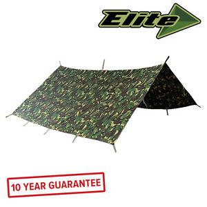 【送料無料】キャンプ用品 3×3mエリートバーシャdpmテントelite evolution military basha 3 x 3m british dpm shelter waterproof army tent