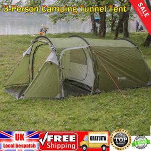 【送料無料】キャンプ用品 3 ハイキングドームトンネルテント43 person dome tunnel tent camping shelter hiking travel doublewalled 4 season