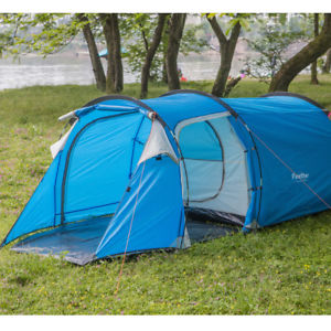 【送料無料】キャンプ用品 3 テントドームテントメッシュ3 person tent easy build instant man family dome tent mosquito mesh camping blue