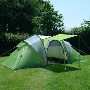 【送料無料】キャンプ用品 3000mmhh4トンネルテントtrail 4 man family tunnel tent with awning camping festival waterproof 3000mm hh