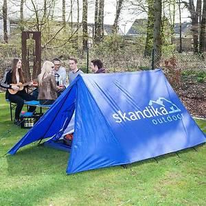 【送料無料】キャンプ用品 skandikaリバイバルテントフェスティバル2セットアップskandika retro ridge blue tent classic festival 2 person man easy setup