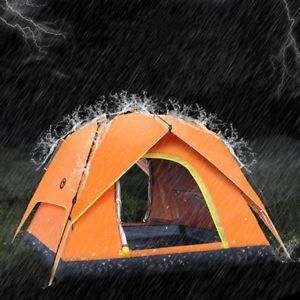 【送料無料】キャンプ用品 キャンプダブル34wテントテントテントfully automatic tent rainproof tent double layers camping tent for 34 persons w