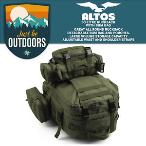 【送料無料】キャンプ用品 50ポンドgreentactical molleバックパックリュックサックハイキングバッグ