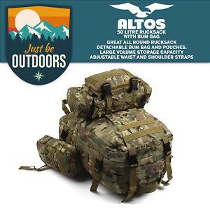 【送料無料】キャンプ用品 50ポンドカムmolleバックパックmtpリュックサックハイキングバッグ