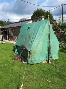【送料無料】キャンプ用品 ヴィンテージキャンバススカウトパトロールテントvintage canvas scout patrol tent