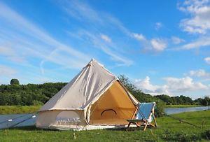 【送料無料】キャンプ用品 5メーター320gsmキャンバステントテントブティックグラウンドシート5 metre 320gsm canvas bell tent with pegged in groundsheet by bell tent boutique